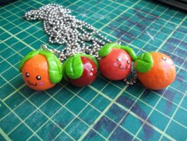 Cherry and Orange Necklace Charms by Vinnie14