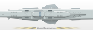 UESF SPACE NAVY - ANTAEUS-CLASS Destroyer WIP 03-4 by MisterK91