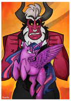 Twilight and Tirek by reaperfox
