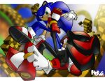 Always Fightin'-Sonic+Shadow by herms85