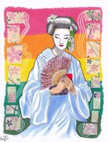 Geisha Card.2 (Finished result) by hidden-by-art