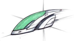 Small Commuter Car sketch 1 by Augos