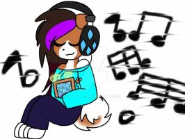 Me and Sparky listening to mashup songs :3 by S-K-Y-L-I