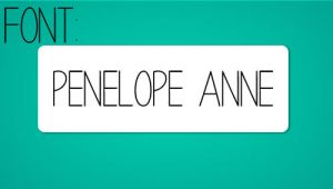 Font Penelope Anne by LuchiiTutoriales