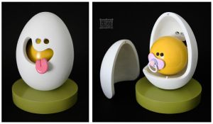 Egg Head and Yolkel by freeny