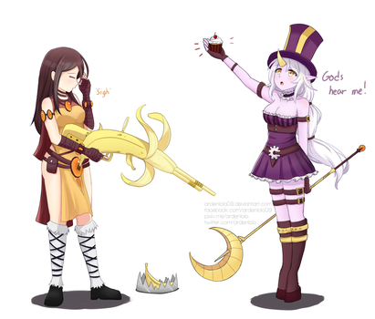 Soraka And Caitlyn Outfit Swap by ardenlolo09