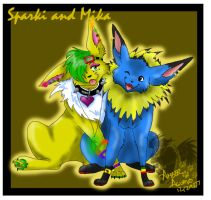 Sparki and Mika by PinkScooby54