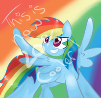 Rainb dash by KrissieKat