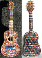 Mosaic Guitar by Sarajane-Helm