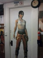 Life-Sized Chell printout by ChrisInVT