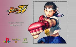 SFIV - Sakura - Wallpaper by iFab