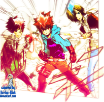 Katekyo Hitman Reborn! 396 [The Hyper Trio] by Kiriku-Kilik