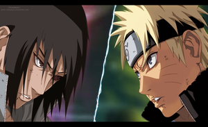Naruto Vs Sasuke by AllanWade