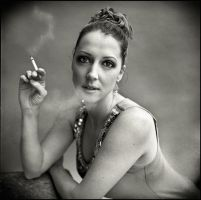 Esther smoking by MoniBrand