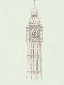 Big Ben study by A-Parliament-Of-Owls