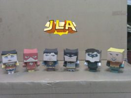 Cubeecraft JLA justice league by RatedrCarlos