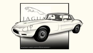Jaguar E-Type LineArt Wheel update by MarisDesign