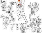 Splatoon Horror Show: Weird Crossover Doodles by IceCold64