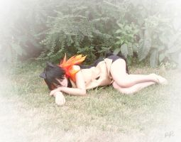 Typhlosion Cosplay - Nap Time by randomranma