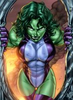 She Hulk_c-dubb_inker Guy_Knytcrawlr_vic55b by vic55b