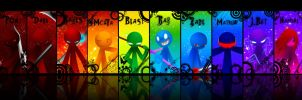 Rainbow Stick man. by kiruru2592