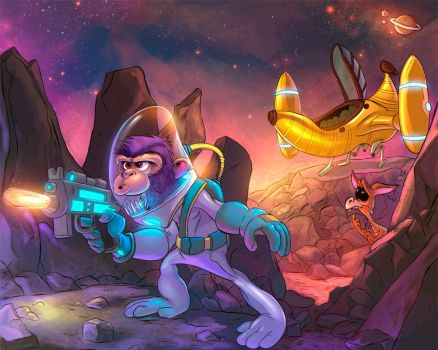 Colors commission - Space Monkey by viniciustownsend