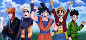 Shonen heroes Collab by Master-Majidosse