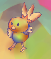 Rainbow Torchic- Practice by kinimoto7