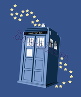 Starry Tardis by lilrebelscum