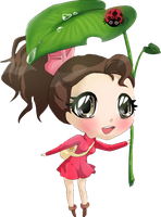 Arrietty's umbrella by RaimbowNyan