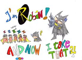 Batman confused by Red69Robin