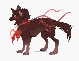 Red ribbon bells [Adoptable: CLOSED] by Endber