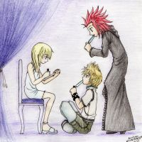 Watching while Eating - KH fanart by ArichanKizuna