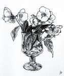 White Flowers in glass by the-nika