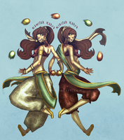 The Kakra sisters by Sohym