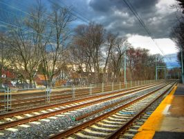 HDR Train Tracks by NullCoding
