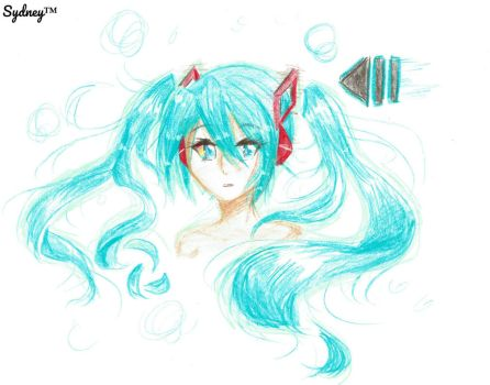 Hatsune Miku - REPLAY by XDrawingWithSydneyX