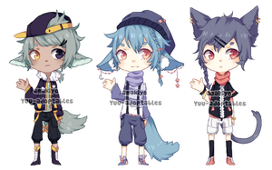 CLOSED Collab adopts with amakiyo by Yuu-adoptables