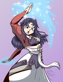 Birthday Gift for Elphie: Claret (Summon Night 6) by CHAOKOCartoons