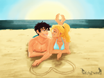 Percy and Annabeth by WitchyTwinzy
