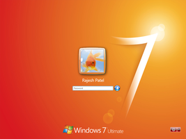 Win 7 Login for XP - Orange by Rahul964