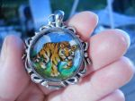 Tiger tiger Pendant by MySweetPhantom