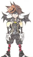 Sora in Halloweentown by harley-quinn4