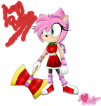 Amy Rose redesign by MeggieTheHedgehog