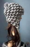 Grey Crocodile Eskimo Beanie by AAMurray