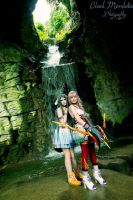 Serah and Yeul at Sulyya Springs by memoire-hana