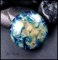 Glass Cabochon - Nebula by andromeda