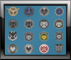 S.H.I.E.L.D. Insignia Shadow Box by viperaviator
