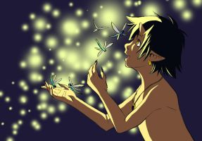 Dragonflies and Fireflies by tarmie