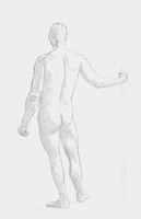 Figure Drawing - Man 1 by DirkMeister